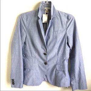 J. Crew Schoolboy Pinstriped Blazer Jacket Coat